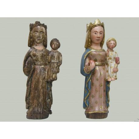 Réplica reconstruida y policromada de una talla Románica.