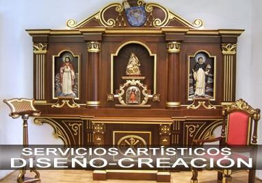 Retablo capilla Privada del  Sr. Obispo de la diócesis de Tuy-Vigo.